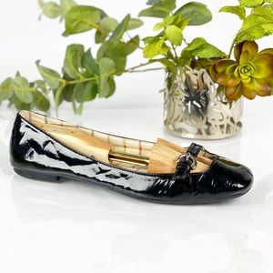 Coach Black Leather Ballet Flat Mary Jane Round
